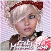 Candy Minnie Bow 3D Figure Assets Sveva