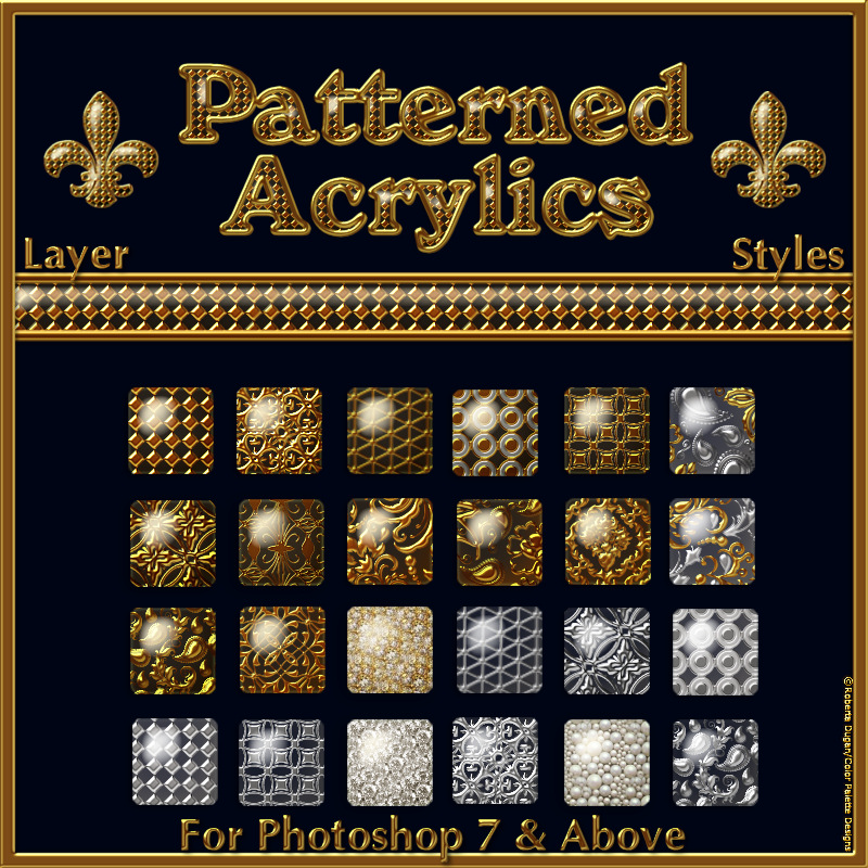 Patterned Acrylics Layer Styles