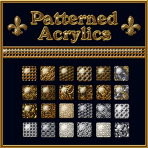 Patterned Acrylics Layer Styles 3D Models 2D fractalartist01