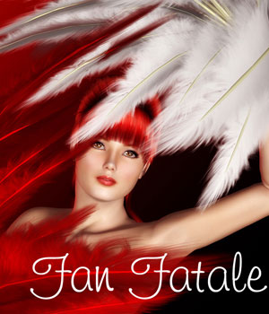 Fan Fatale V4 3D Figure Essentials Amaranth