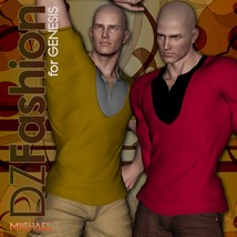 DZ LayeredV Top for Genesis 3D Figure Essentials dzheng