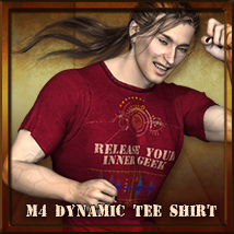 M4 Dynamic Tee Shirt 3D Figure Essentials nfredman