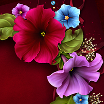 Moonbeam's Petunias...for my Granny 2D Graphics 3D Models moonbeam1212