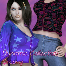 Dynamic Collection - Groovy V4 3D Figure Assets kaleya