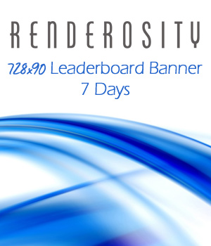 Renderosity 728x90 Banner Ad - 7 Days Services/Rosity Stuff Store Staff