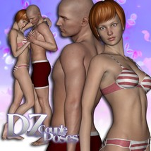 DZ MV5 Couple Poses Set 4 3D Figure Essentials dzheng