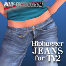 TY2 Hiphugger Jeans 3D Figure Assets 3D Models billy-t
