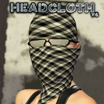 HeadCloth for V4 Clothing Accessories Themed Software 3-d-c