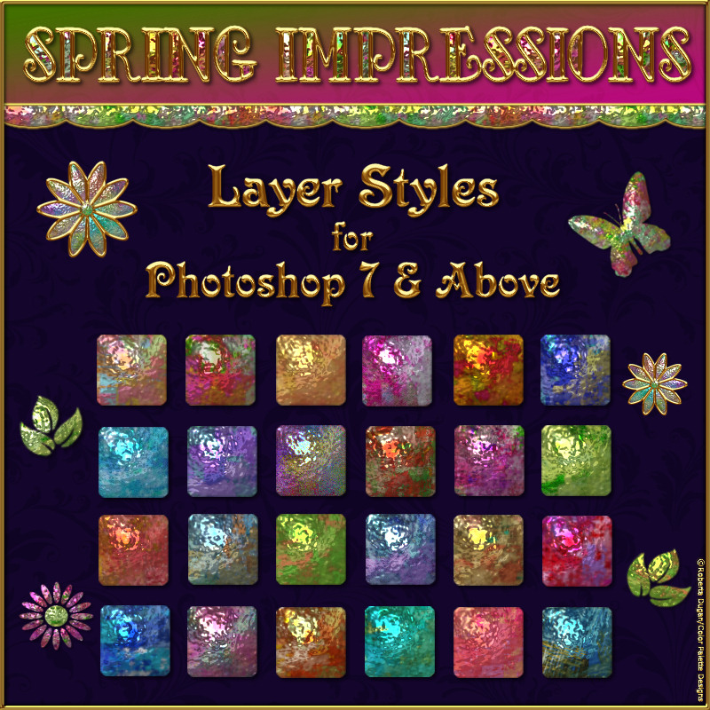 Spring Impressions Layer Styles