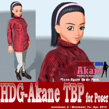 HDG-Akane TBP for Poser 3D Figure Essentials motokamishii