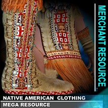 Native-American Clothing - Mega Resource 2D And/Or Merchant Resources renapd