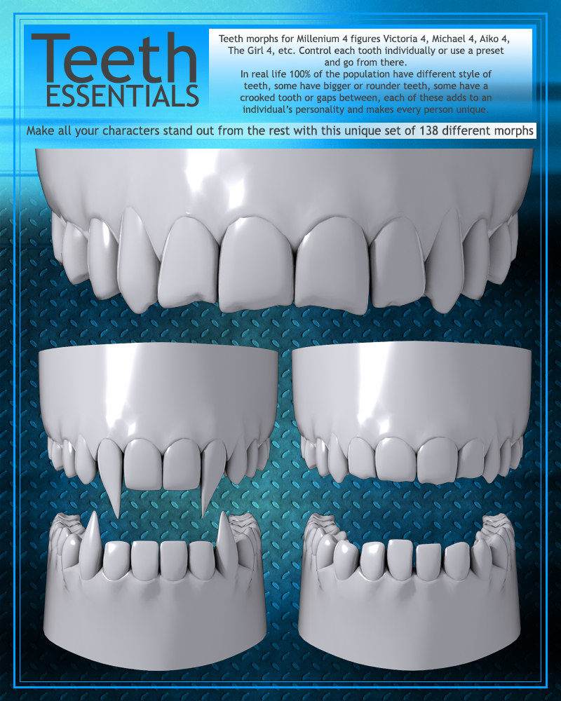 How to make all the teeth