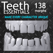 Exnem Teeth Essentials 3D Figure Assets 3D Models exnem