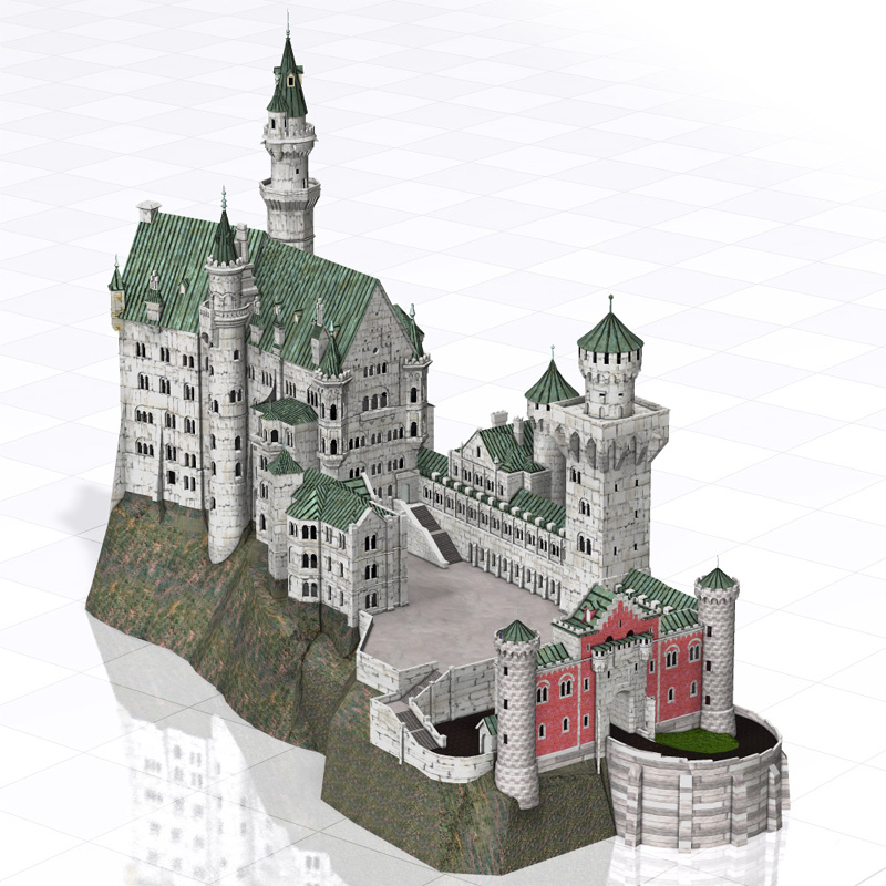 Neuschwanstein Castle (Poser and Vue)