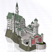 Neuschwanstein Castle (Poser and Vue) Props/Scenes/Architecture Themed Digimation_ModelBank