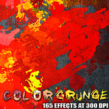 Color Grunge 2D 3D Models designfera
