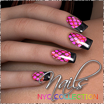 NYC Collection Nails 2D Graphics 3D Figure Assets Merchant Resources 3DSublimeProductions