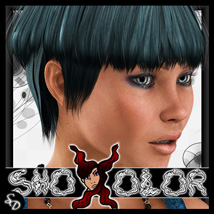 ShoXoloR for Luka Hair 3D Figure Essentials ShoxDesign