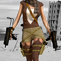 Desert Hunter V4/A4/G4 3D Figure Essentials 3D Models santuziy78