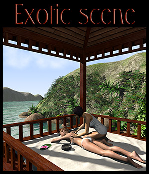 Tropical island, Thai massage 3D Models 2nd_World