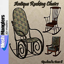 Antique Rocking Chairs 3D Models keppel