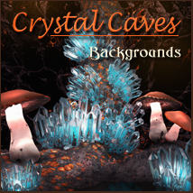 Crystal Caves 2D 3D Models -Melkor-