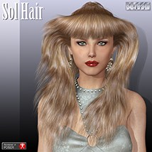 Sol Hair 3D Figure Essentials 3Dream
