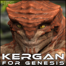 HFS Races: Kergan 3D Figure Essentials 3D Models DarioFish