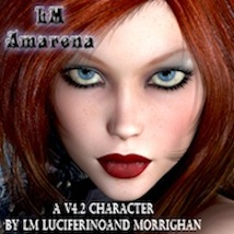 LM AMARENA for V4.2 3D Figure Essentials luciferino