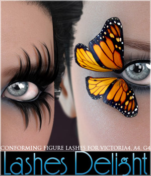 Lashes Delight 3D Figure Assets 3D Models lilflame