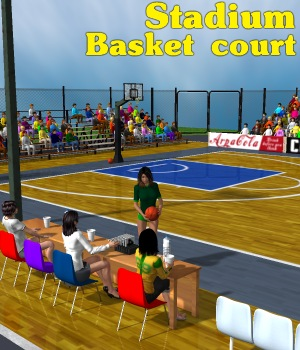 Stadium Basketball court Props/Scenes/Architecture Themed greenpots