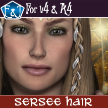 Sersee Hair For V4 And A4 Themed Software Hair EmmaAndJordi
