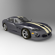 Dodge Viper (for 3D Studio Max) 3D Models Digimation_ModelBank