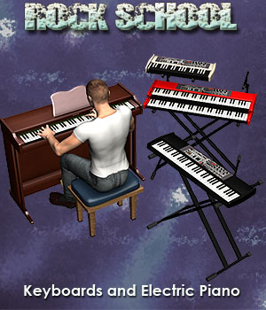 Rock School KeyBoards Themed Props/Scenes/Architecture Software Simon-3D