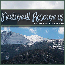 Natural Resources: Colorado Rockies 01 2D And/Or Merchant Resources Themed Stock Photography Sveva