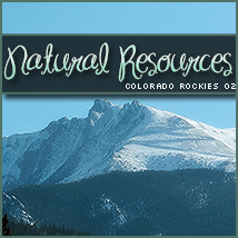 Natural Resources: Colorado Rockies 02 2D And/Or Merchant Resources Themed Stock Photography Sveva