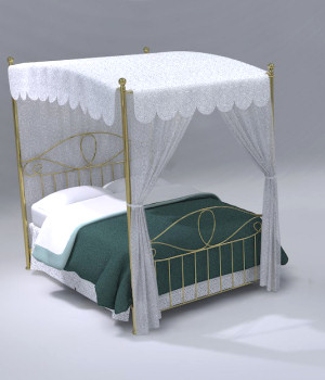 Furniture Set Two, Bed 3D Models 3D Figure Essentials DreamlandModels