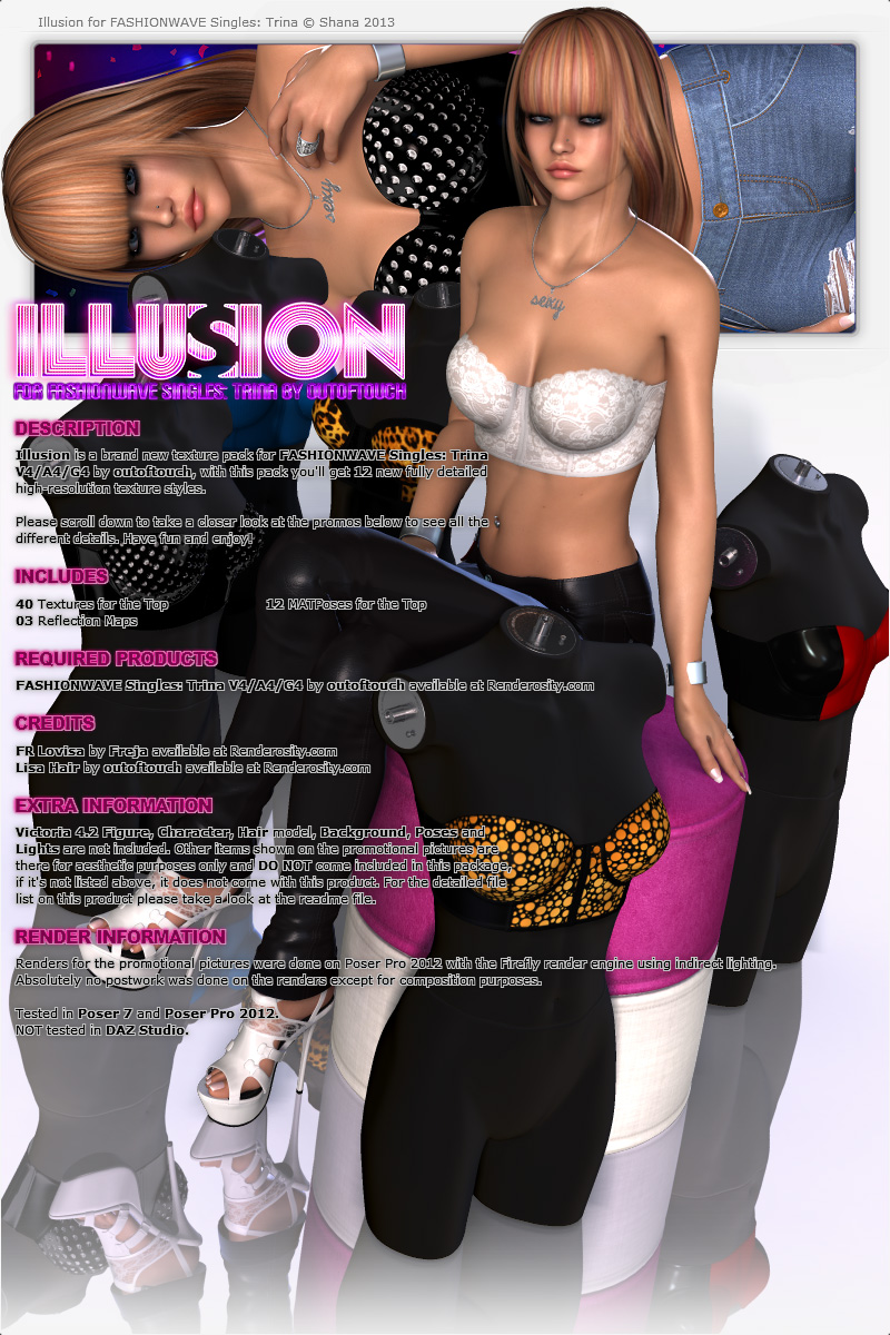 Illusion for FASHIONWAVE Singles: Trina V4/A4/G4
