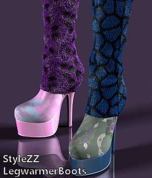 StyleZZ  LegwarmerBoots 3D Figure Essentials Karth