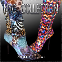 NYC 2Boots for V4 3D Figure Essentials 3DSublimeProductions