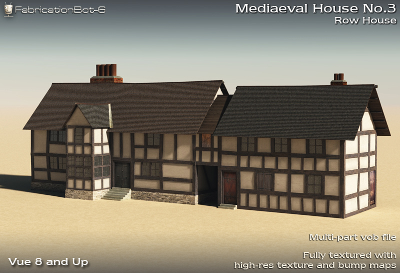 FB6 Mediaeval House 03 - Row House