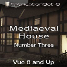 FB6 Mediaeval House 03 - Row House 3D Models FabricationBot-6