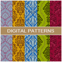 Damask Patterns 2D Graphics Atenais