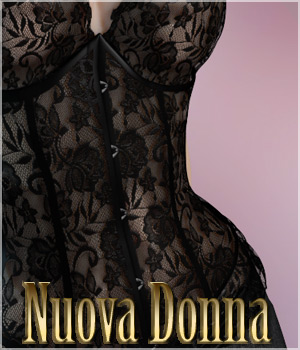 Nuova Donna - Corset Donna 3D Figure Assets 3D Models Legacy Discounted Content lilflame