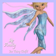 Amity Ice Fairy 3D Figure Assets 3DTubeMagic