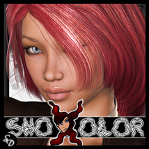 ShoXoloR for Christalle Hair 3D Figure Essentials ShoxDesign