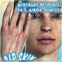 Merchant Resource - Old Skin - for V4.2, Aiko 4, Genesis 2D 3D Figure Essentials _Fenrissa_