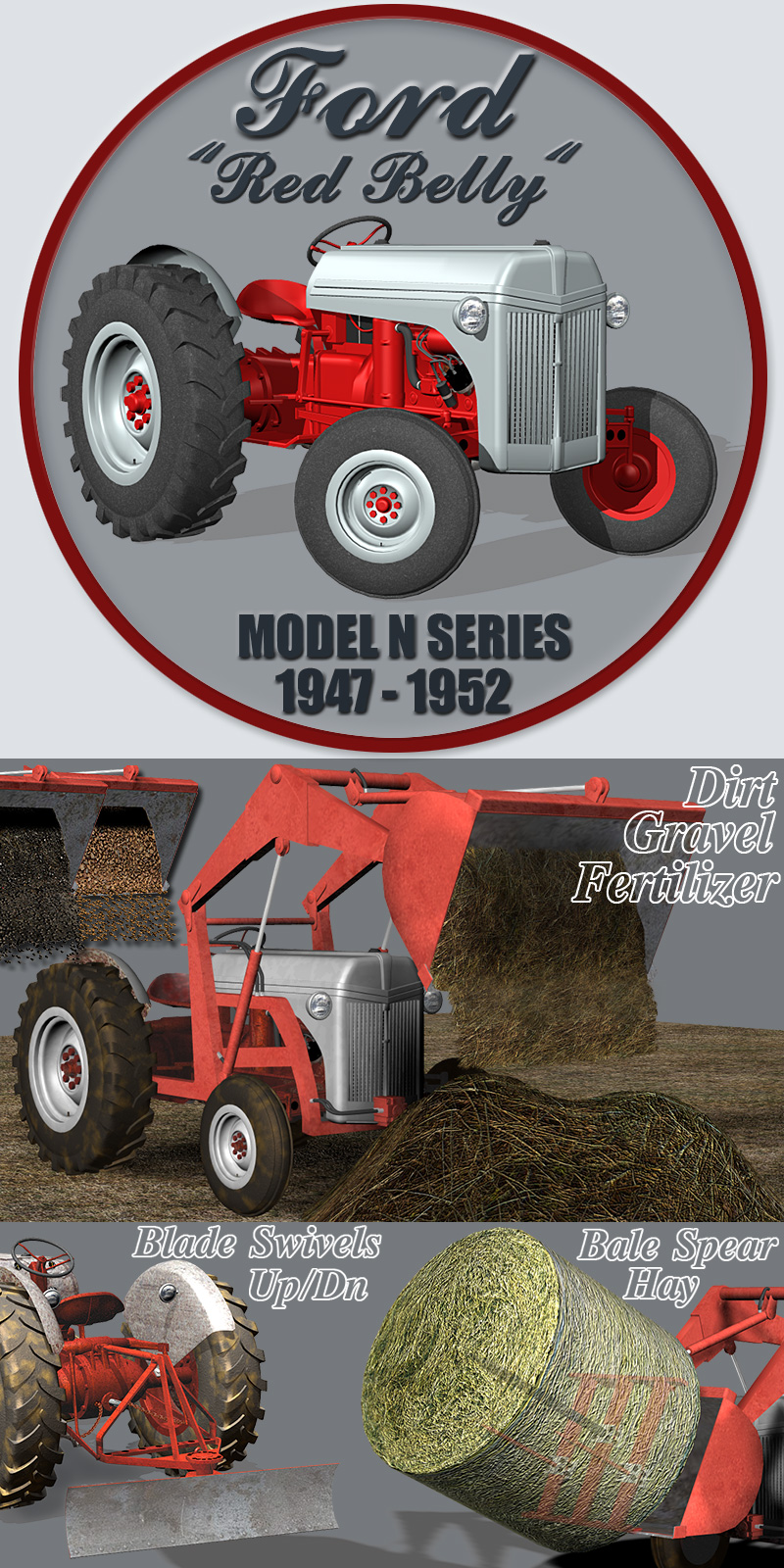 F Tractor (poser, obj) by RPublishing