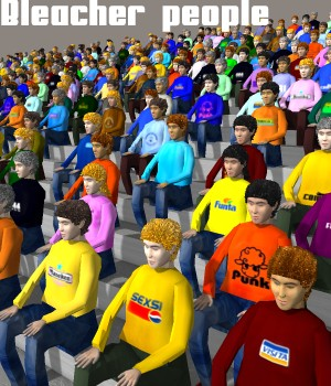 Bleacher people 3D Figure Essentials 3D Models greenpots