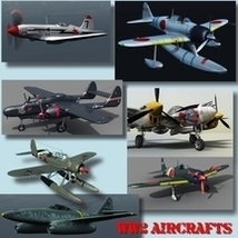 WW2 AIRCRAFTS BUNDLE (for VUE) 3D Models Nationale7